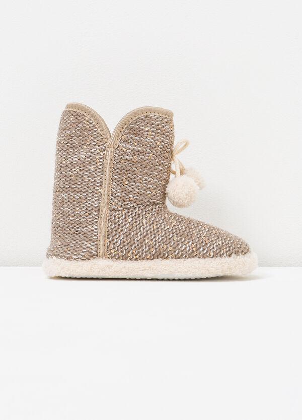 Pantofole stivaletti con paillettes | OVS