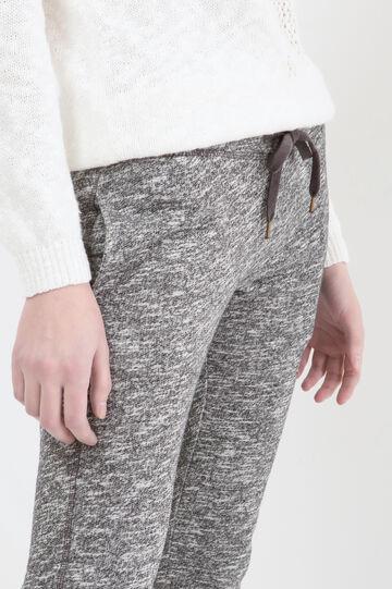 Gym pants with drawstring, Black, hi-res