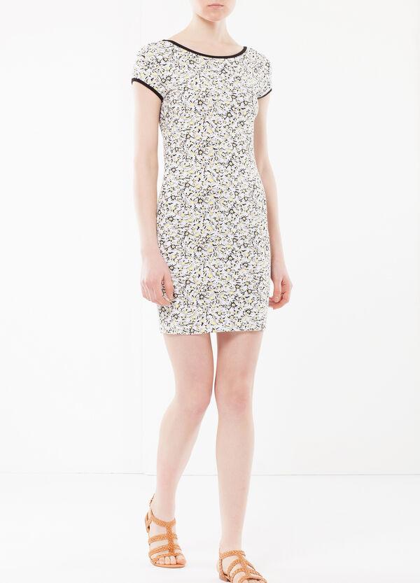 Contrasting trims pencil dress | OVS