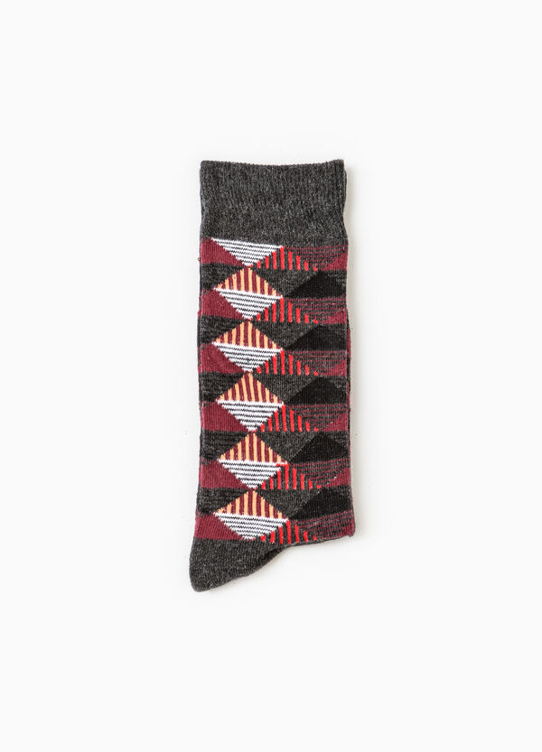 Short socks with geometric pattern | OVS