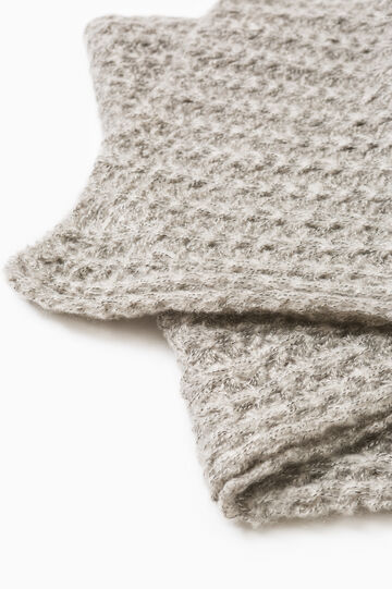 Wide knit scarf, Chalk White, hi-res