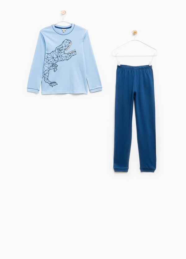 Cotton pyjamas with dinosaur print | OVS