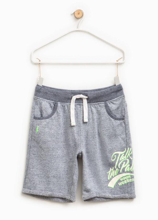Mélange Bermuda shorts with print | OVS