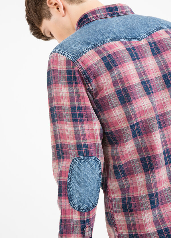 G&H casual tartan shirt with patches | OVS