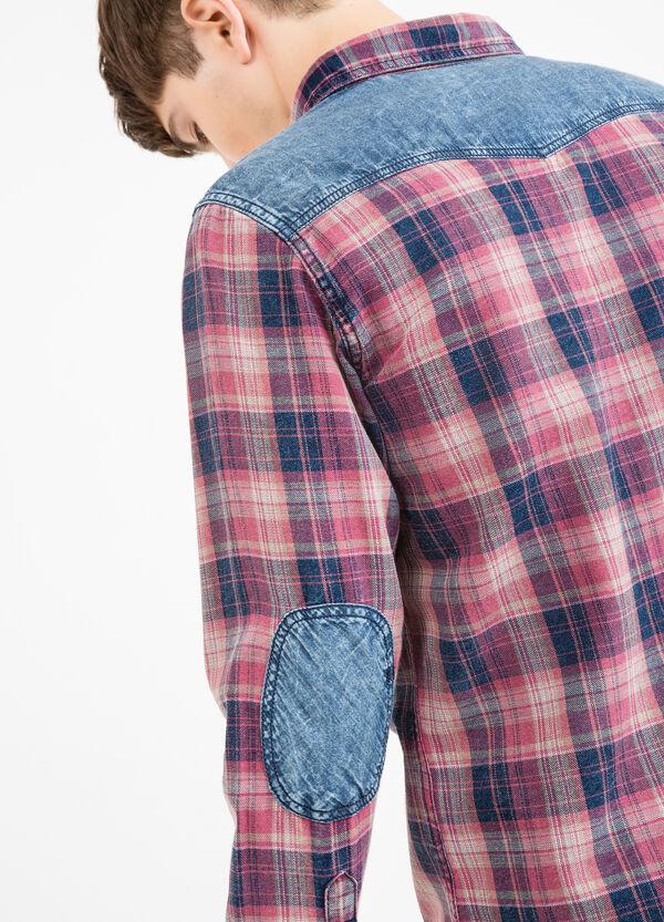 Camicia casual tartan con toppe G&H | OVS