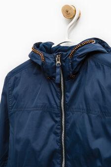 Hooded windbreaker, Blue, hi-res