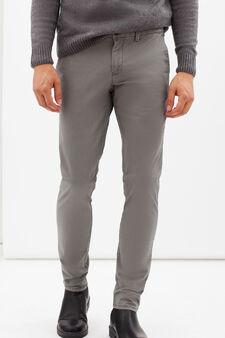 Slim fit stretch Chinos, Grey, hi-res