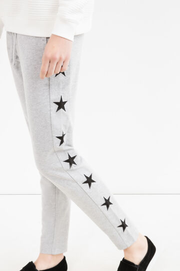 Joggers with stars patches, Grey Marl, hi-res