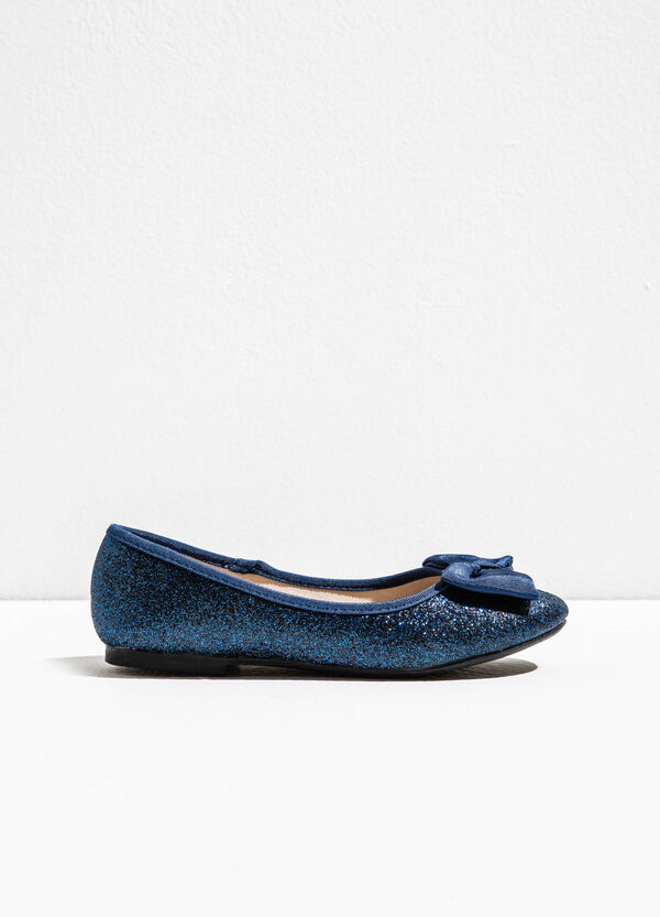 Glitter ballerina flats with bow | OVS