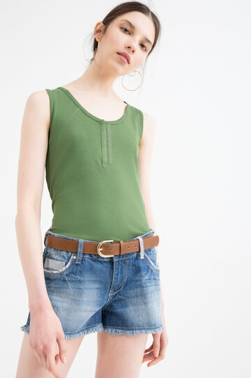 100% cotton top with hooks, Green, hi-res