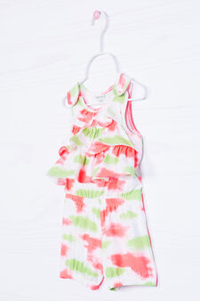 Stretch patterned playsuit, Multicolour, hi-res