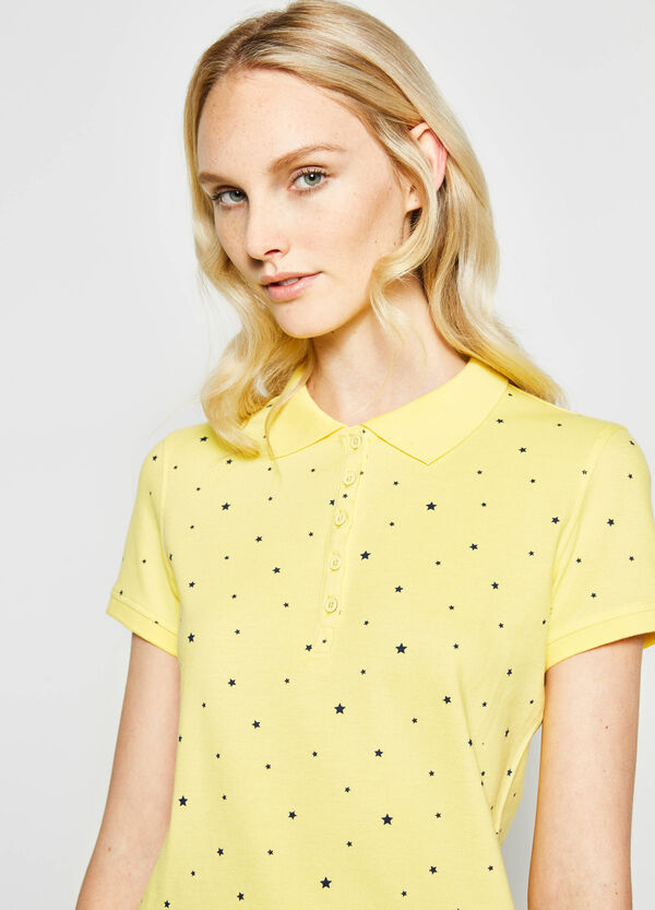 Star pattern polo shirt in cotton | OVS