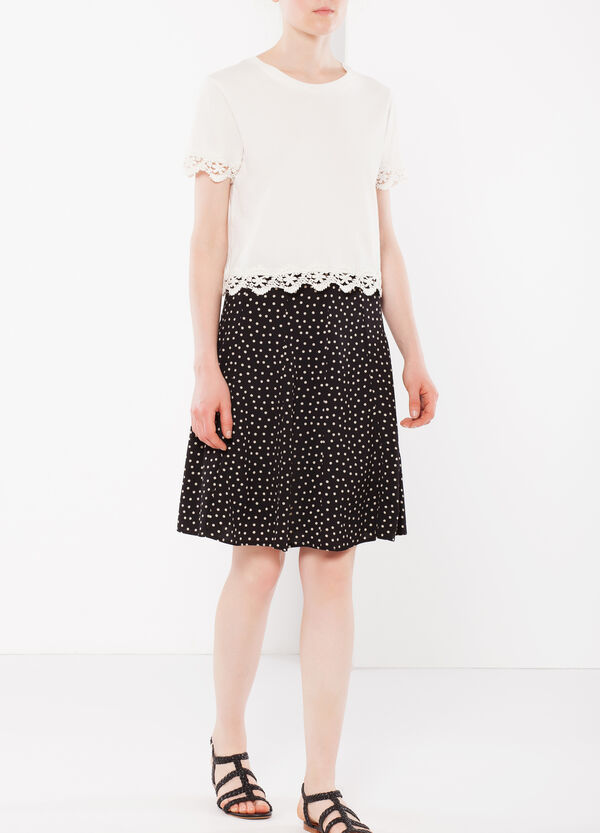 Polka dot flared skirt | OVS