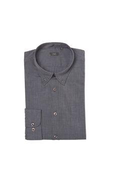Plain shirt with pocket, Dark Grey, hi-res