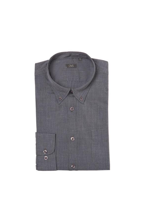 Camicia tinta unita con taschino | OVS