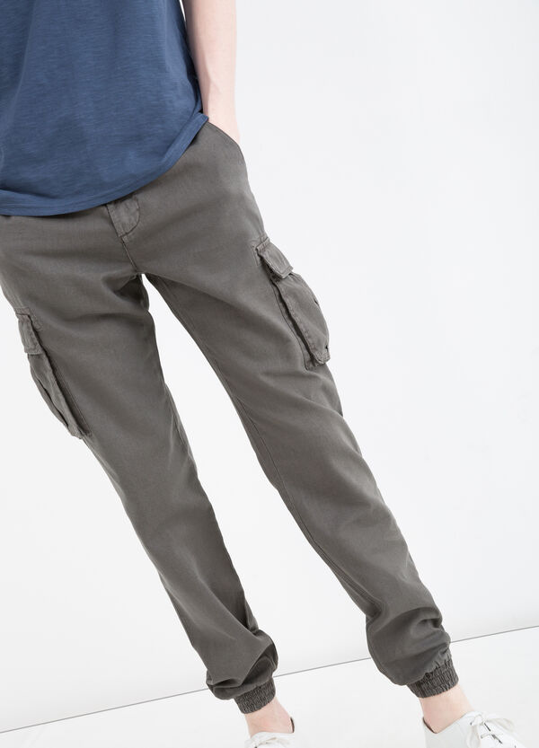 G&H linen and cotton blend trousers | OVS