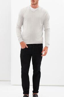 V-neck pullover, Off-white, hi-res