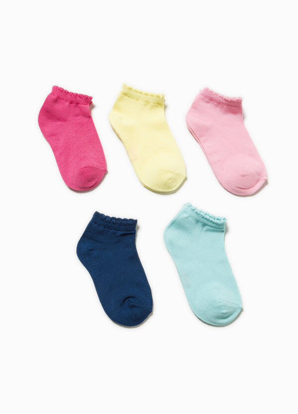 Five-pair pack stretch short socks | OVS