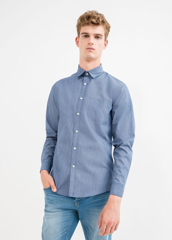 Cotton blend slim-fit casual shirt   OVS