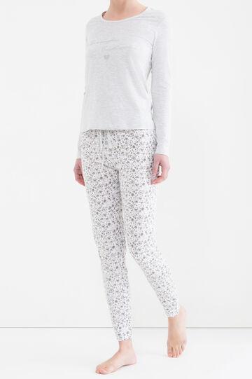 Printed pyjamas in 100% cotton, Light Grey, hi-res