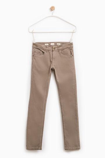 Pantaloni chino cotone stretch, Grigio, hi-res