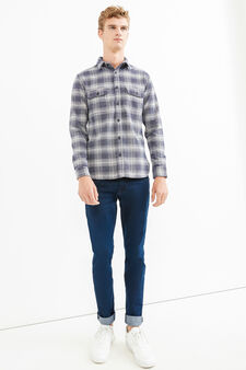 G&H casual shirt with check pattern, White/Blue, hi-res