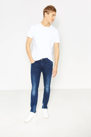 Faded, slim-fit stretch jeans