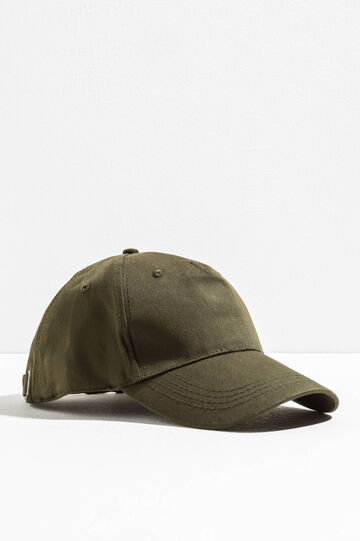 Solid colour baseball cap, Green, hi-res