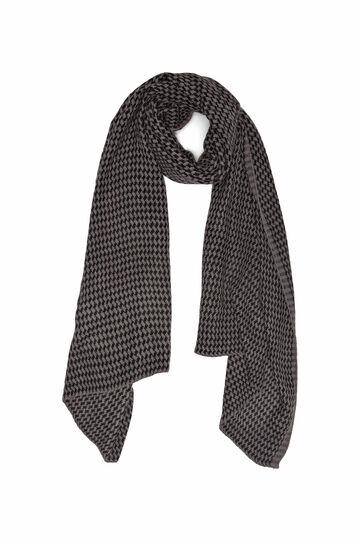 Sciarpa tricot fantasia geometrica, Grigio melange, hi-res