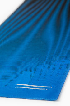 Patterned sports neck warmer, Azure, hi-res