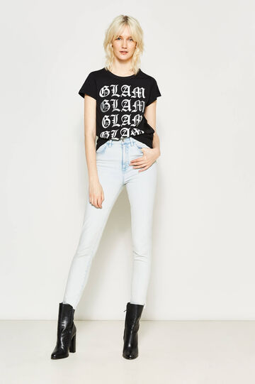 Glitter print T-shirt