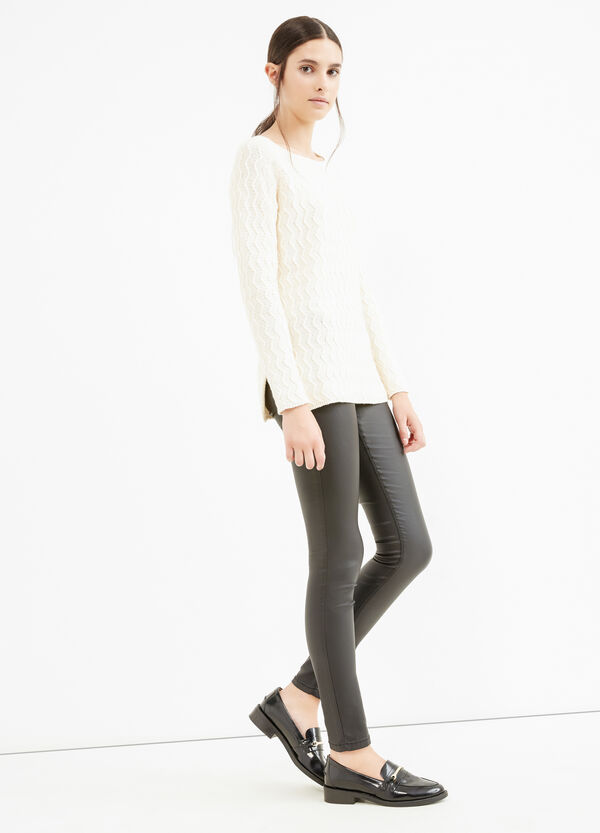 Cotton striped weave pullover | OVS