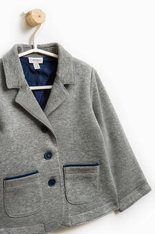 Two-button jacket with lapels, Grey Marl, hi-res