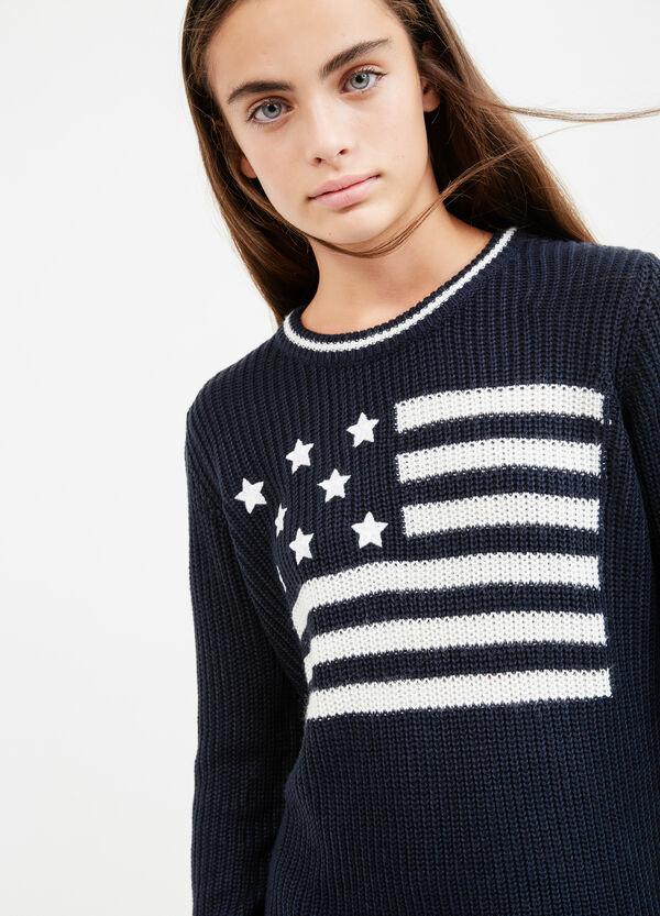 Pullover tricot con costina rigata Teen | OVS