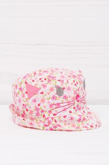 Cappello pescatora cotone fantasia, Rosa, hi-res