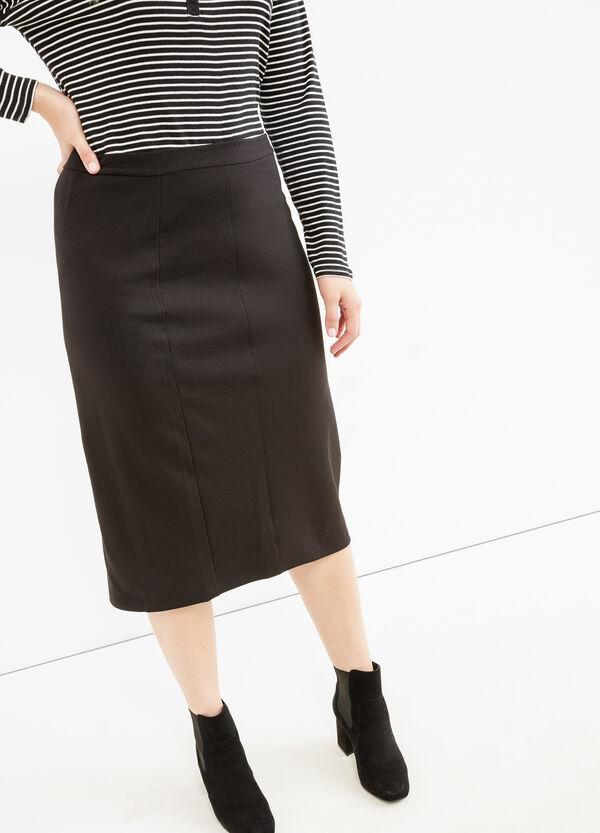 Curvy stretch skirt with slit | OVS