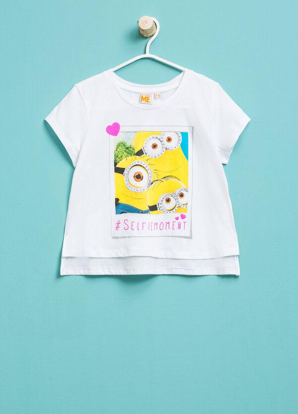 Minions print cropped T-shirt | OVS