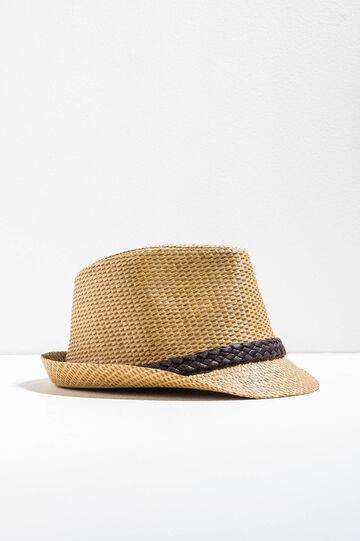 Sombrero de paja con cinta trenzada