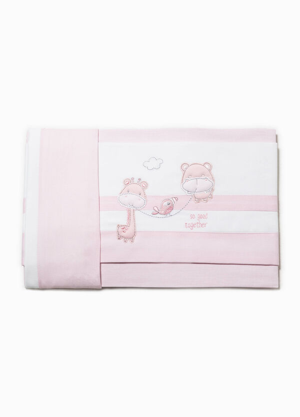 Two-tone bed sheet with animal patches | OVS
