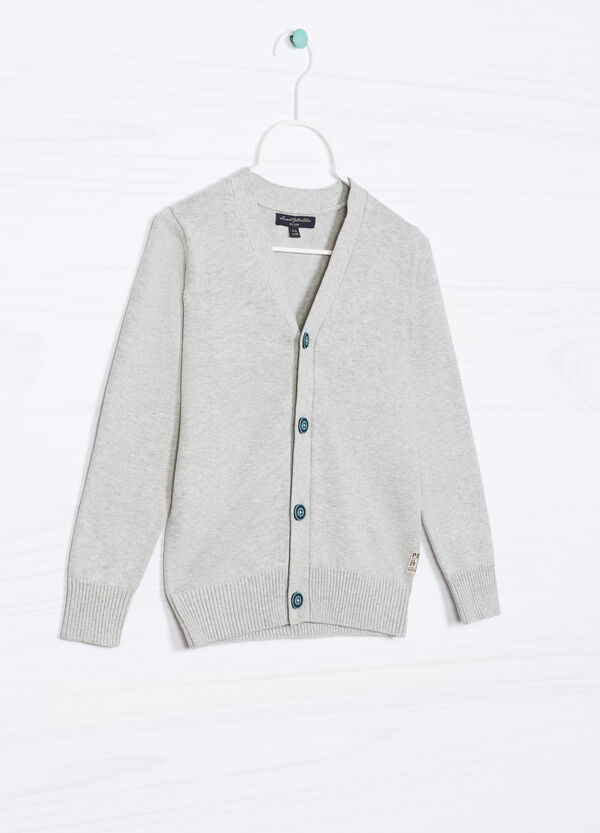Knitted cardigan in 100% cotton. | OVS