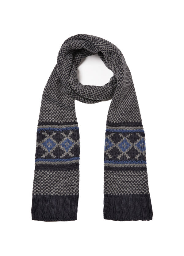 Knitted embroidered scarf | OVS