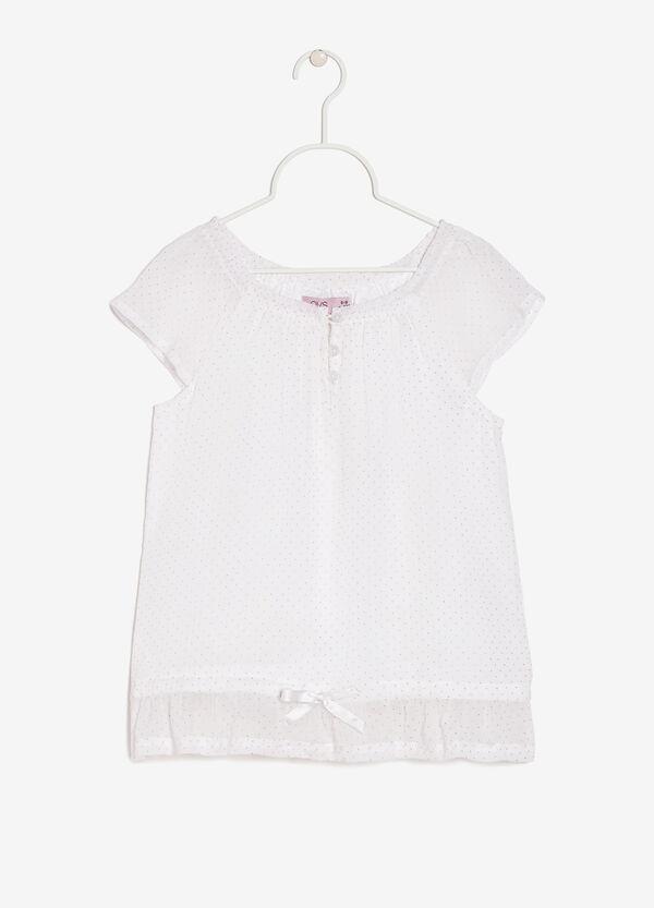 T-shirt smanicata con fiocchetto | OVS