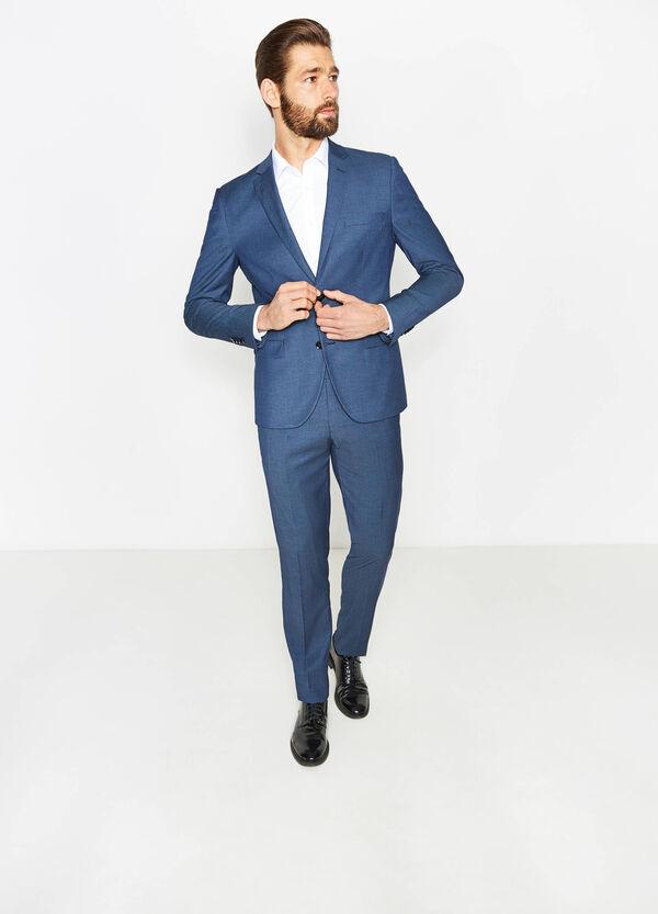 Slim-fit suit in stretch viscose blend | OVS