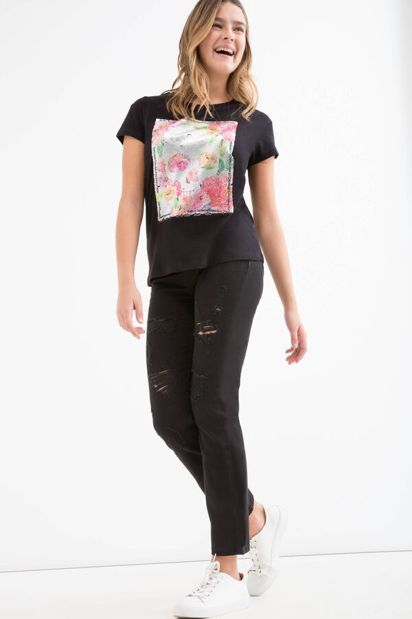 T-shirt puro cotone stampa Teen | OVS
