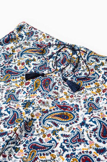 Pantaloni pigiama stampa paisley, Bianco, hi-res