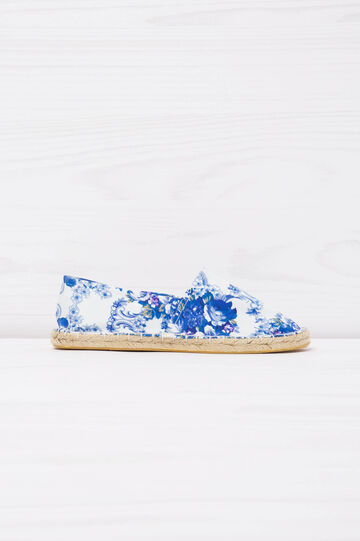 Floral patterned espadrilles, White/Blue, hi-res