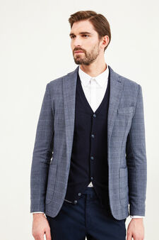 Rumford jacket with check pattern, Blue, hi-res