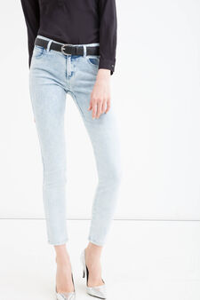 Skinny fit stretch jeans, Soft Blue, hi-res