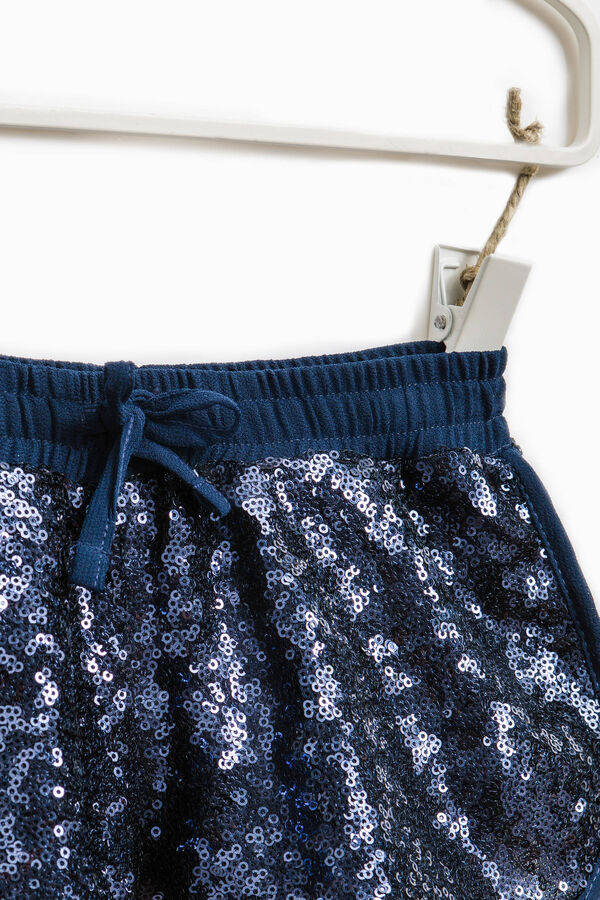 Shorts with sequins and drawstring | OVS