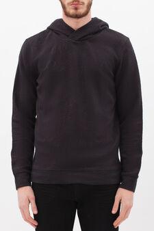 Sweatshirt with fashioned hood, Blue, hi-res